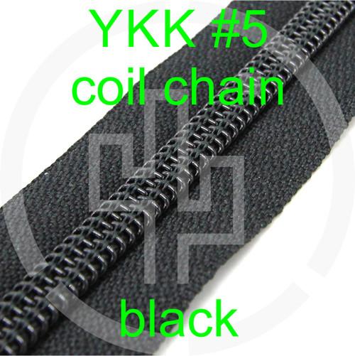#5 YKK 5/8 black milspec zipper zipper chain