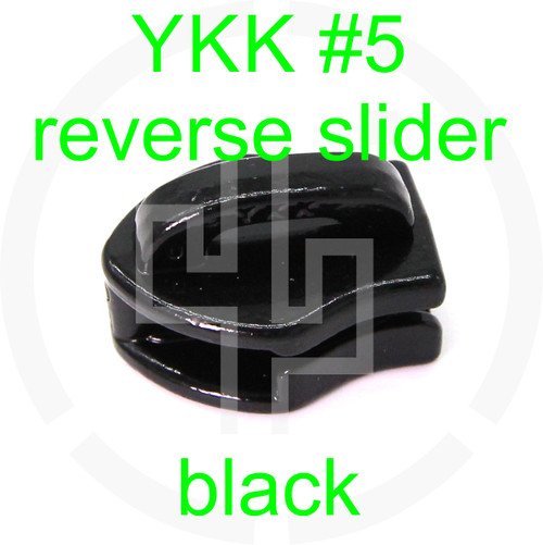 #5 YKK black reverse zipper slider