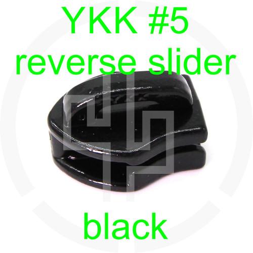 YKK coil slider reverse #5 black