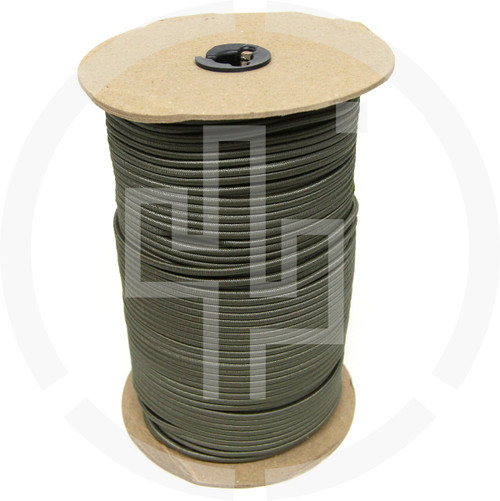 "500 FT Roll Ranger Green 1/8"" Shock Cord Milspec Berry Compliant Solution Dyed Invista Cordura IRR"