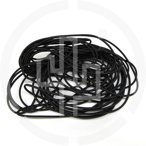 "50 ft Coil Black 1/8"" Shock Cord Milspec Berry Compliant Solution Dyed Invista Cordura IRR"