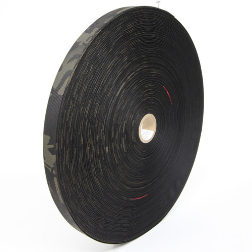 "MIL-T-5038 Type III Grosgrain Edge Binding Tape 1"" / 25mm Berry Compliant Solution Dyed Milspec Multicam Black"