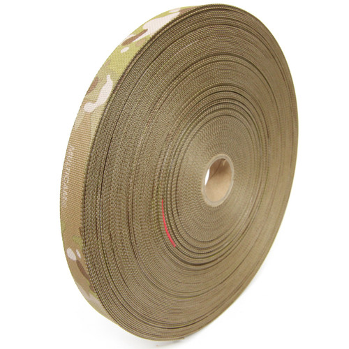 "MIL-T-5038 Type III Grosgrain Edge Binding Tape 1"" / 25mm Berry Compliant Solution Dyed Milspec Multicam Arid"