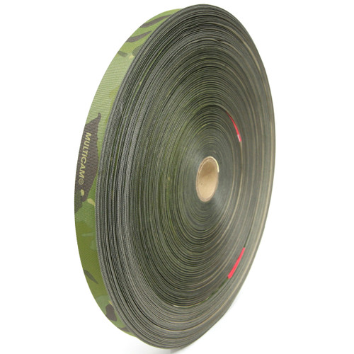 "MIL-T-5038 Type III Grosgrain Edge Binding Tape 1"" / 25mm Berry Compliant Solution Dyed Milspec Multicam Tropic"