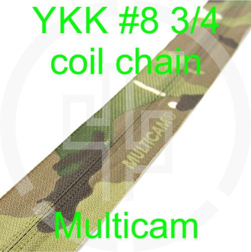 #8 YKK 3/4 Multicam milspec zipper zipper chain (5 yard pack)