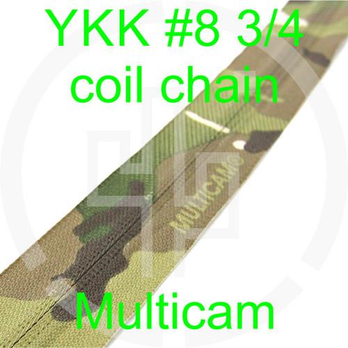 #8 YKK 3/4 Multicam milspec zipper zipper chain (5 yard pack)