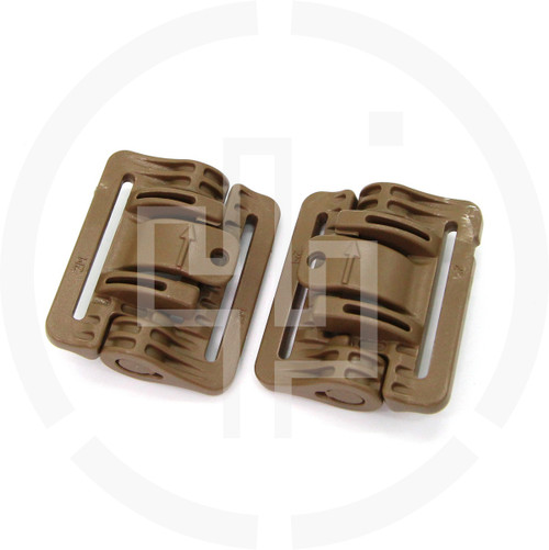 2M ROC Rapid Open Connector Narrow Coyote Brown, pair of