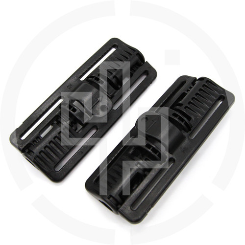 2M ROC Rapid Open Connector Wide Black, pair of