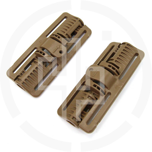 2M ROC Rapid Open Connector Wide Coyote Brown, pair of