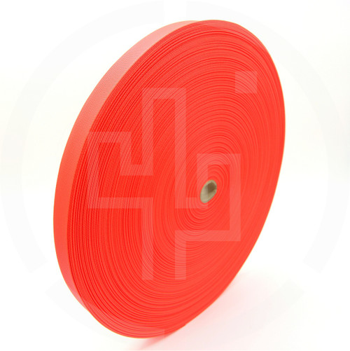 Flat Nylon 1 inch (25mm) Webbing, Orange