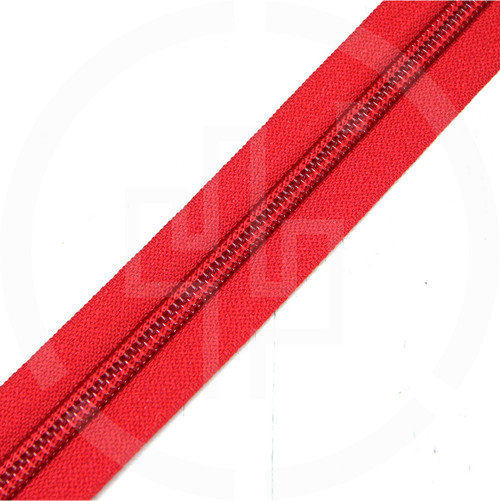 #8 YKK 5/8 red milspec zipper zipper chain