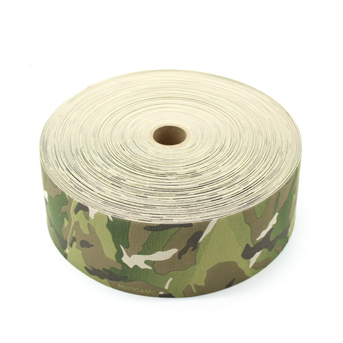 Milspec Elastic Multicam 4 Inch TWO Side Print Solution Dyed Berry Compliant MIL-W-5664 Type II Class I