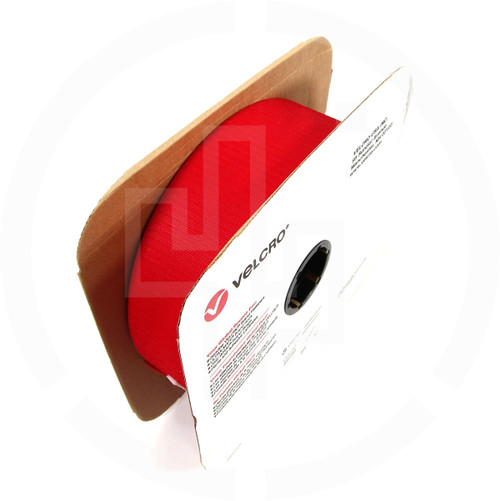 "HOOK 4"" Wide Red, Velcro brand, Berry compliant, milspec"
