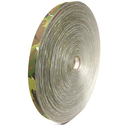 "MIL-T-5038 Type III Grosgrain Edge Binding Tape .75"" / 19mm Berry Compliant Solution Dyed Milspec Multicam per yard"