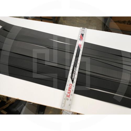 """HDPE Belt Stiffener Strips 0.040"""" x 2"""" x 48"""" (1mm x 50mm x 1200mm) black (5 pack)"""