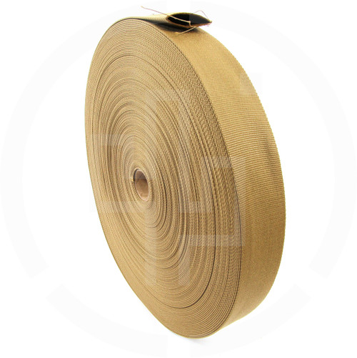 2 inch (50mm) tubular nylon webbing, Berry compliant, IRR compliant, solution dyed coyote brown
