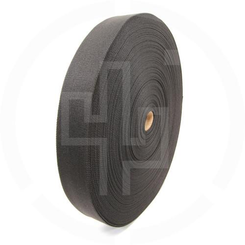 2 inch (50mm) tubular nylon webbing, Berry compliant, IRR compliant, solution dyed black