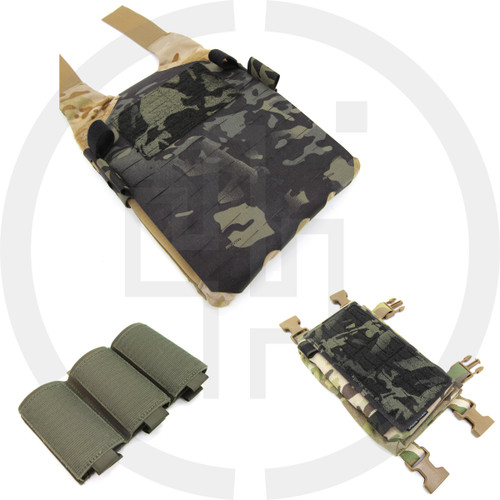 Bundle 119 PALS MOLLE Spiritus Systems LV-119 MOLLE Back Panel 91, MFCR PALS Panel, and Insert 401 Bundle