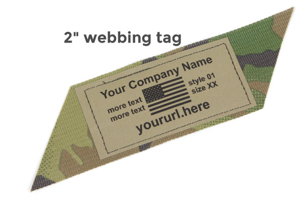 Milspec Berry Compliant Custom Printed Webbing Tags