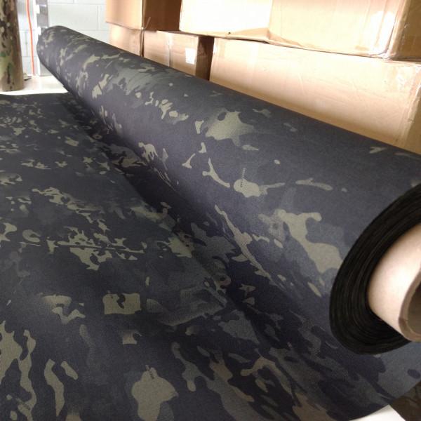 "Multicam Black ACRONYM 500D laminate 58"" / 137cm wide PER YARD"