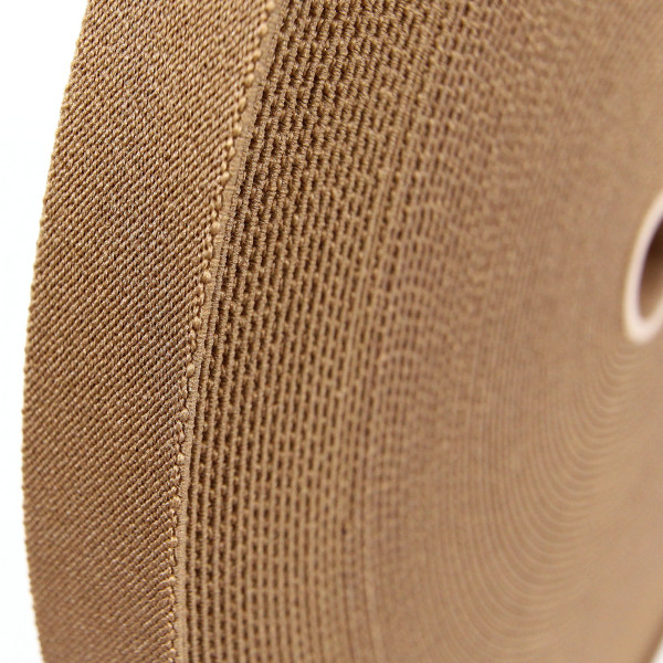 Polyester Elastic Webbing, Woven, 1 inch 25mm, Berry Compliant, coyote brown
