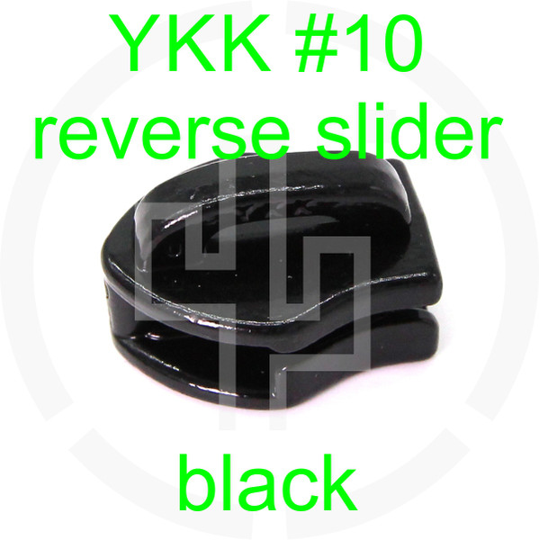 #10 YKK black reverse zipper slider (20 pack)
