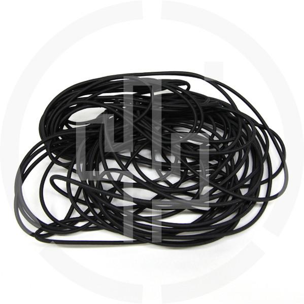"50 ft Coil Black 1/8"" Shock Cord Milspec Berry Compliant Solution Dyed Invista Cordura IRR"