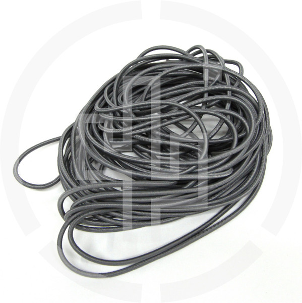"50 ft Coil Wolf Grey 1/8"" Shock Cord Milspec Berry Compliant Solution Dyed Invista Cordura IRR"