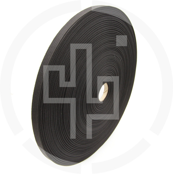 .5 inch (13mm) MIL-W-17337 type Black Solution Dyed Berry Compliant INVISTA CORDURA® Nylon Webbing