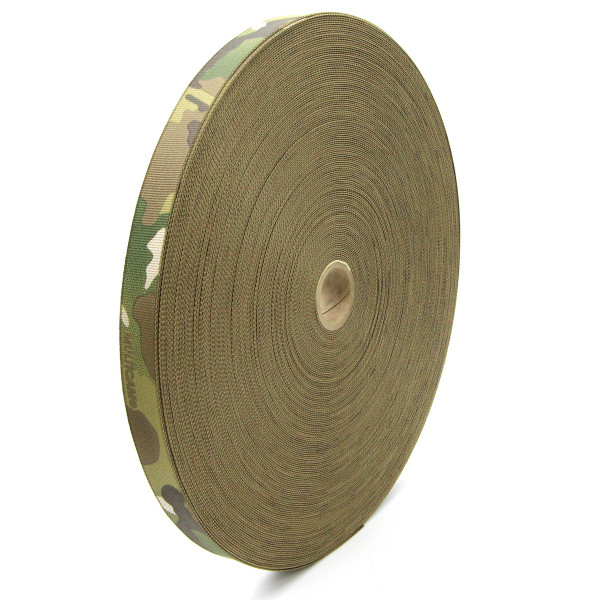 1inch (25mm) Solution Dyed Nylon Webbing MultiCam® Camouflage Mil-W-43668 (A-A-55301 Type III) Texcel