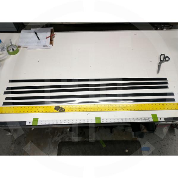 """HDPE Belt Stiffener Strips 0.040"""" x 1"""" x 48"""" (1mm x 25mm x 1200mm) black (5 pack)"""