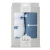Lulujo Modern Me Cotton Muslin Swaddle 2 Pack Set - Blue Arrows