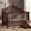 Franklin & Ben Amelia Collection Kit 4-in-1 Convertible Crib and Double Dresser - Weathered Cocoa