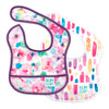 Bumkins 2-Pack Starter Bibs - Watercolour Flower/Watercolour Stripe