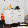 Babyletto Lolly 6-Drawer Double Dresser - White and Washed Natural