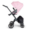 Stokke Xplory V6 Stroller - Lotus Pink with Black Chassis & Black Leather