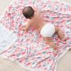 Aden + Anais Silky Soft Bamboo Dream Blanket - Watercolour Garden