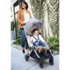 UPPAbaby Minu Lightweight Stroller - Devin (Light Grey Melange/Chestnut Leather)