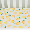 Little Unicorn Cotton Percale Fitted Crib Sheet - Lemon