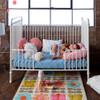 Nook Dream Upcycled Cotton Denim Core Crib Mattress - Blush