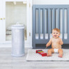 UBBI Stainless Steel Diaper Pail - Grey Wood Grain