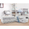Kushies Flannel Crib Sheet - Grey Feathers