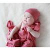 Merino Cocooi Blanket, Bootie, & Hat Set - Raspberry (0-3 Months)