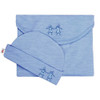 Merino Cocooi Swaddle & Hat Set - Banbury (0-3 Months)
