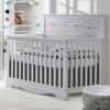 Nest Matisse 5-in-1 Convertible Crib - White & White Bark