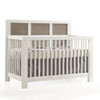 Natart Rustico Moderno 5-in-1 Convertible Crib - White with Owl Grey Panels