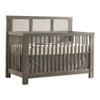 Natart Rustico 5-in-1 Convertible Crib - Owl Grey with Talc Linen Panel
