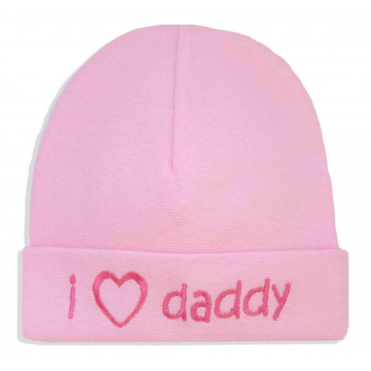6bb04b48fc3b Itty Bitty Baby Embroidered Toque - I Love Daddy Pink (PR) - Dear ...