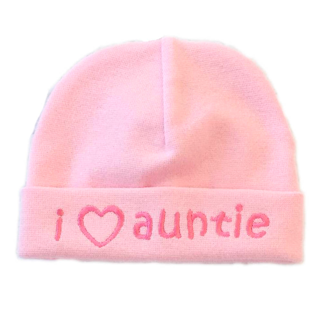 97406884946e Itty Bitty Baby Embroidered Toque - I Love Auntie Pink (0-6 Months ...