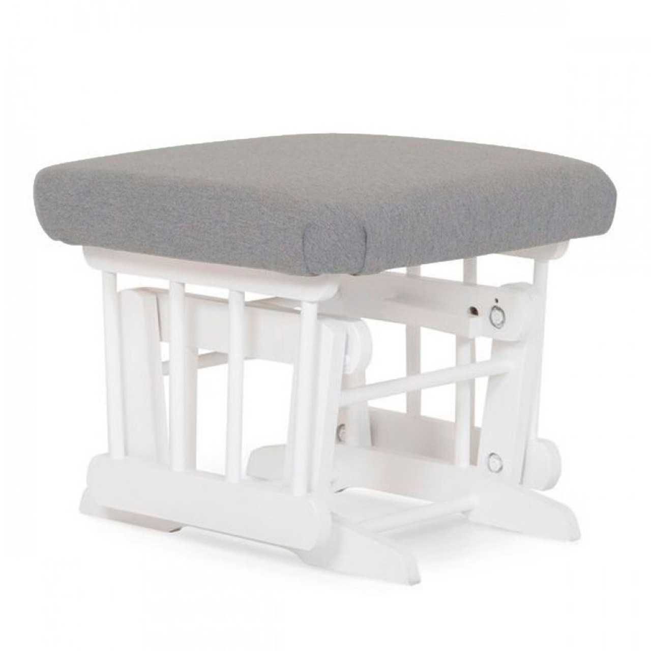 Prime Dutailier Modern Wooden Gliding Ottoman Light Grey And White Wood Finish Gmtry Best Dining Table And Chair Ideas Images Gmtryco
